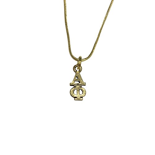 Alpha Phi Gold Color Sorority Standard Lavalier Necklace A - California Honolulu Shades Of