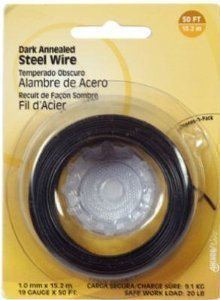 Hillman Fasteners 123122 Dark Annealed Steel Wire 100-Feet, 24 Gauge by Hillman Fasteners