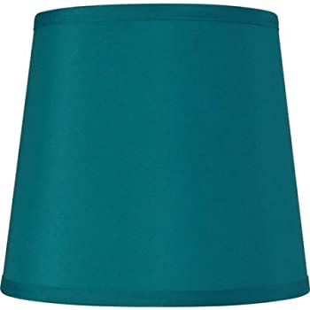 Sydnee Satin Teal Blue Drum Lamp Shade 14x16x11 Spider
