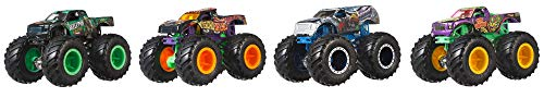 Hot Wheels Monster Trucks 1: 64 Scale 4-Truck Pack, Styles May Vary