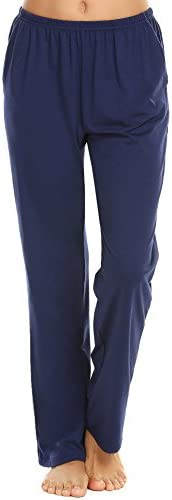 Ekouaer Pajama Pants Women's Casual Lounge Pants Soft Cotton Sleepwear Pj Bottoms S-XXL