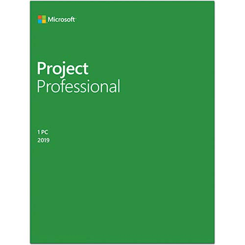 Price comparison product image Microsoft Project Professional 2019 For 1 User - For Windows - One time purchase that installs on 1 machine - Manage project schedules and costs - Manage tasts reports and business intelligence - Co