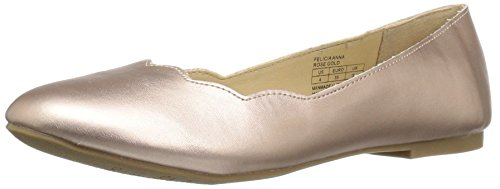 Sam Edelman Kids Girls' Felicia Anna Ballet Flat, Rose Gold/Metallic, 13 M US Little - Gold Felicia