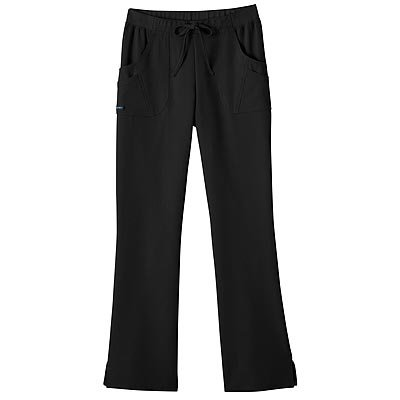 - Jockey Ladies Rib Trim Combo Comfort Scrub Pant Black Medium Tall