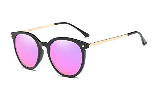 Black Purple Women Polarized Sunglasses Classic Women Retro Vintage Shade Sun (Old Purple Tin)