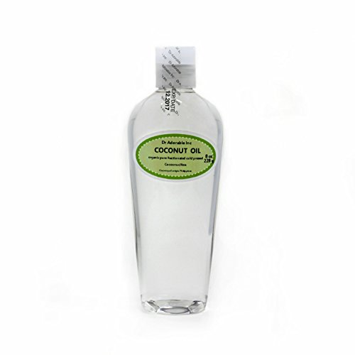 Fractionated Coconut Oil Pure Organic Raw by Dr.Adorable 8 O