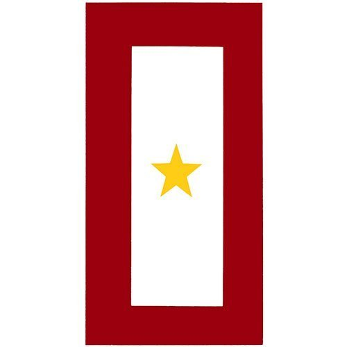 (Gold Star Service Banner Decal)