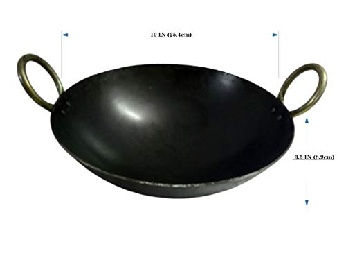 Be with Nature Iron Kadai 10 Inch (25.4CM) Perfect for 3-4 Family Members/Premium Product Weight 1.4 kg. Price & Reviews