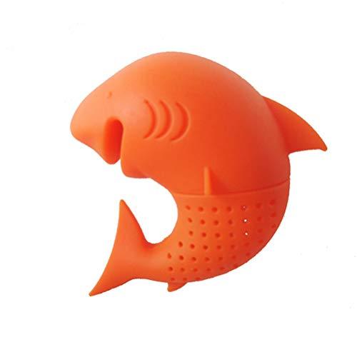 Xuxuou Filtro de t/é Forma de tibur/ón Filtro de t/é de Silicona para Las Tazas de t/é de Hojas Sueltas 1 pcs