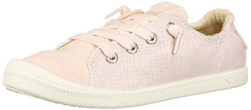 (Roxy Girls' RG Bayshore Slip On Sneaker Shoe, Light Pink, 2 M US Big Kid)