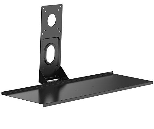 Sliding Brackets Lcd Stand (VIVO Computer Keyboard & Mouse Platform Tray VESA Mount Attachment 8