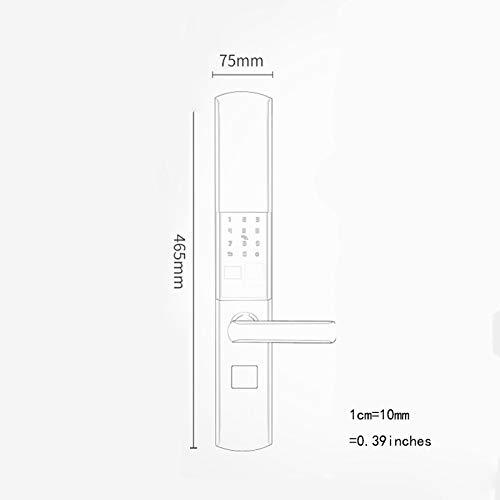 BLWX - Smart Lock-Stainless Steel+zinc Alloy-Fingerprint Lock Home Security Door Lock Password Lock Electronic Lock Door Lock Card Magnetic Card Lock-Size: 357X80X68mm Door Lock (Color : B) by BLWX-home renovation. Door lock (Image #1)