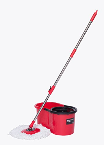 PowerSmart PS3002 Spin Mop with Bucket and 2 microfiber mop heads