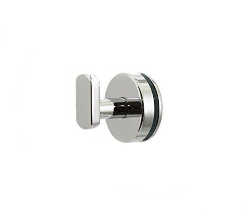 Preferred Bath Accessories PC2000GM Anello Collection Glass Mounted Robe Hook, Polished Chrome