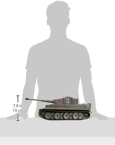 Grigio Inverno Carro Armato Tiger 1 con Sistema di Combattimento a infrarossi Comando proporzionale 2,4 GHz TORRO 708 Scala 1:16