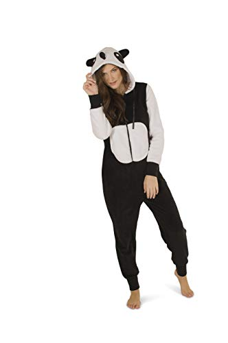Totally Pink Women's Warm and Cozy Plush Character Onesie (Large, Panda)