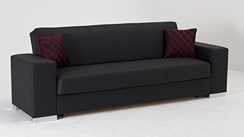 Kobe Escudo Black Convertible Sofa Bed by Sunset