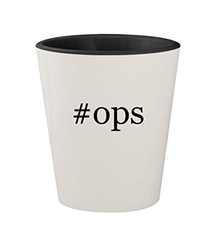 Price comparison product image #ops - Ceramic Hashtag White Outer & Black Inner 1.5oz Shot Glass