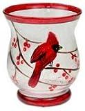 Vase Shaped Mini Hurricane Glass Votive Holder Red Review and Comparison