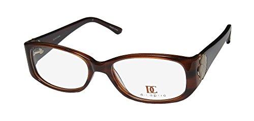 Capri 99 Womens/Ladies Designer Full-rim Crystals Eyeglasses/Eyeglass Frame (53-18-135, Brown)