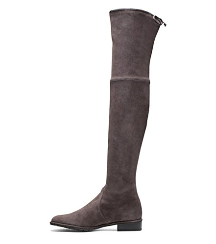 Amy Q, Damen Stiefel & Stiefeletten braun Coffee Suede Medium