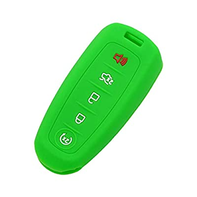 SEGADEN Silicone Cover Protector Case Skin Jacket fit for FORD LINCOLN 5 Button Smart Remote Key Fob CV8700 Green: Automotive