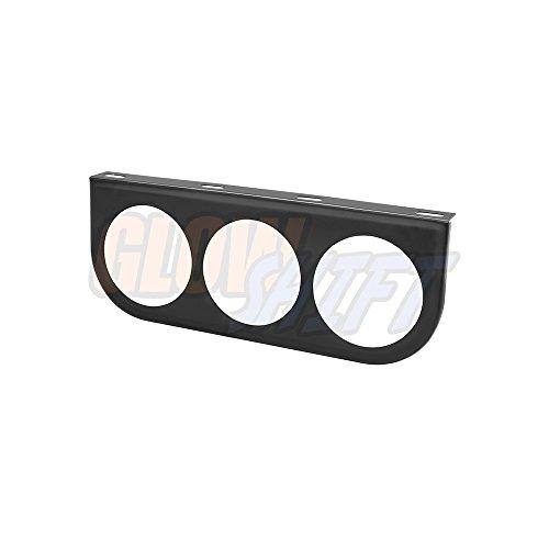 GlowShift Universal Black Triple Gauge Mounting Bracket Pod - Fits Any Make/Model - Mounts (3) 2-1/16