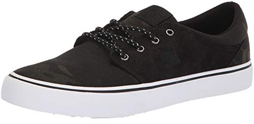 - DC Men's Trase TX SE Skate Shoe, camo Black, 7 Medium US