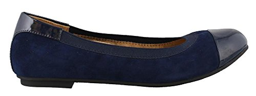 (Vionic Women's Spark Tiegan Ballet Flat Shoes - Dress Casual Flats with Concealed Orthotic Arch Support 11 W US Blue)