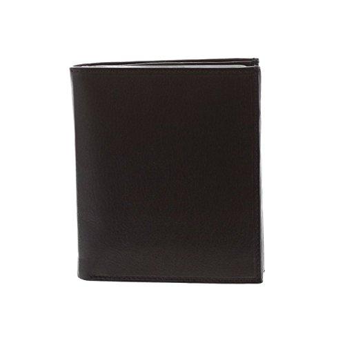 Paul & Taylor Black Leather Big Hipster Bifold Wallet ()