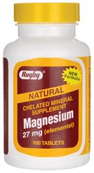 Rugby Chelated Magnesium 27 mg 100 Tabs For Sale