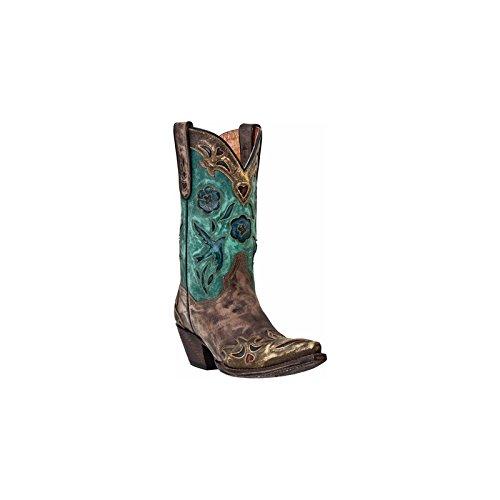 Dan Post Women's Blue Bird Wingtip Cowgirl Boot Snip Toe Cop