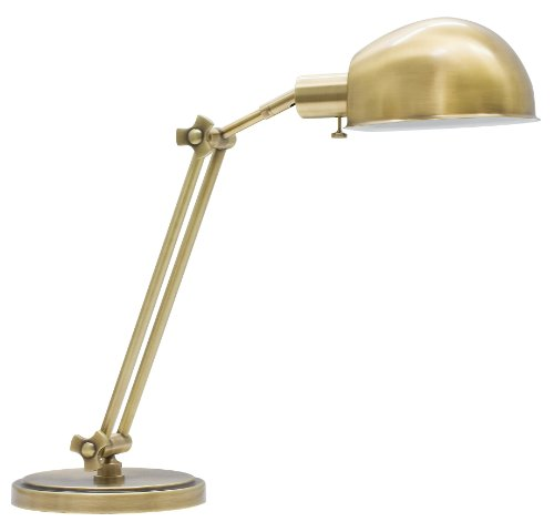 ng AD450-AB House of Troy Addison 1LT Adjustable Desk Lamp, Antique Brass Finish, 24