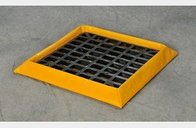 Eagle T8101G 1-Drum SpillNest with Grate, 32.25'' x 32.25'', Yellow