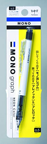 Tombow Mechanical Pencil, Monograph 0.5mm, White (DPA-134A)