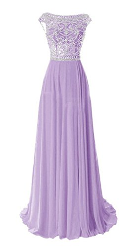arrives hot-selling authentic preview of Emmani Women's Luxury Beading Bling Long Formal Evening Dresses Party Gown  Lilac 8