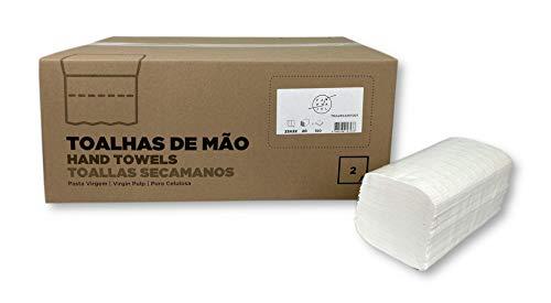 Handdoeken, zigzag, 23 x 22 cm, 2-laags, 20 verpakkingen à 150 stuks