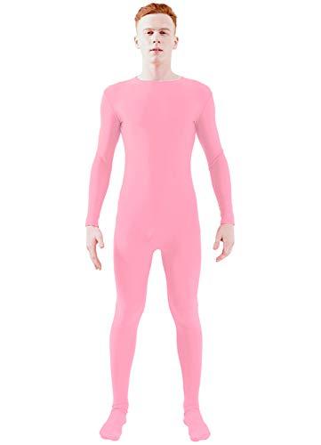 Ensnovo Adult Lycra Spandex One Piece Unitard Full Bodysuit Costume Pink, XL]()