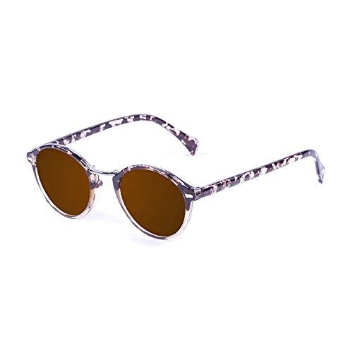 Polarisés Lunettes de soleil aviateur Aztec Navajo de lunettes de mode tribal de Vox Femmes – Cadre noir et blanc Navajo – Ambre lentille atzfF