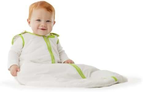 Baby Deedee Sleep Nest Baby Sleeping Bag, White/Lime Green,Large