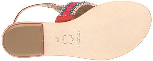 Coral Bleu K212090 Red blue Suede K212090 Daim Red Sandaletten Cb Cb Corail Rouge Sandaletten Rouge rwarzxqXt