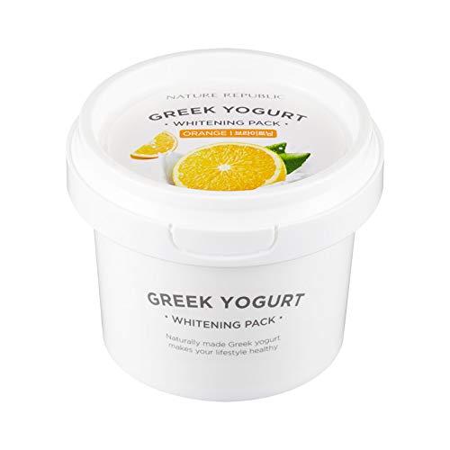 Yogurt Facial Mask - Nature Republic Greek Yogurt Pack Orange 130 ml / 4.39 fl. oz.
