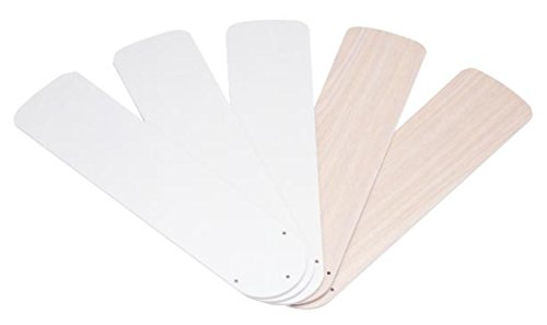 - Westinghouse Lighting 7741600 52-Inch White/Bleached Oak Replacement Fan Blades, Five-Pack