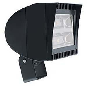 125 Watt - LED - High Output Flood Light Fixture - Trunnion Mount - 5000K Stark White - 320W MH Equal - 120V To 277V - Bronze Finish