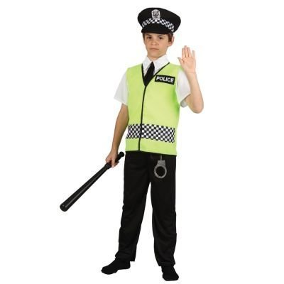Police Officer - Kids Costume 8 - 10 (Uk Policeman Costume)