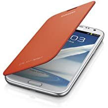 Samsung Galaxy Note 2 Flip Cover Case (Orange)