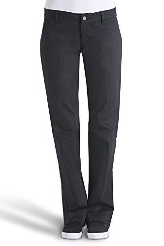 Dickies Girls Juniors' Bull 4-Pocket Bootcut Pant-School Uniform,Black,0 by Dickies (Image #3)