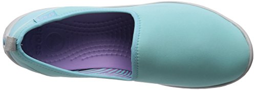 Crocs Womens Duet Busy Day Skimmer Shoe Ice Blue/Pearl White 4ldXVuji