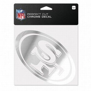 - WinCraft NFL San Francisco 49ers Chrome Perfect Cut Decal, 6 x 6, Black