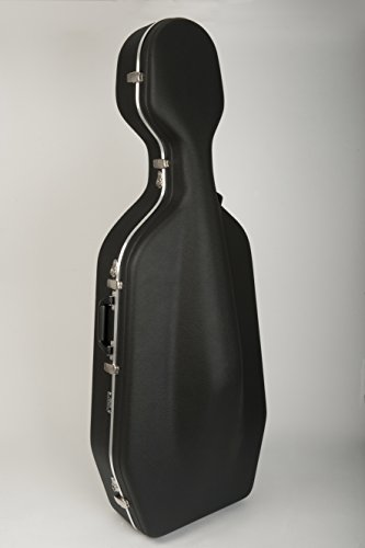 [해외]Hiscox Pro-II-OCW 휠식 첼로 케이스 - 블랙 레드/Hiscox Pro-II-OCW Wheeled Cello Case - Black Red
